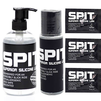 Spit Lube Superior Silicone Based Lubricant Moisturising Intimate Vaginal Anal
