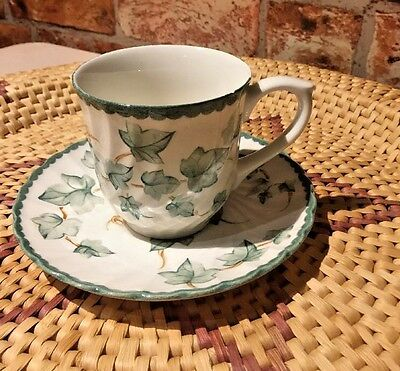 BHS Country Vine Pattern Pottery Collection Two Tea Cup & Two Saucers at £5.99p