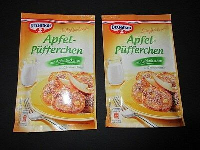 Dr. Oetker Sweet Meal Apple Mini Pancake Mix with Apple Pieces New from Germany
