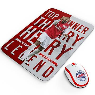 Thierry Henry Arsenal Mouse Mat Pad Work Computer Gaming Football Legend LG75