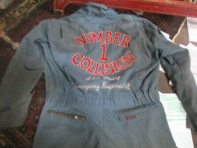 Vintage 1950s Body Shop/Towing/ Gas Service Station Coveralls Garage Sz.42,Nice!