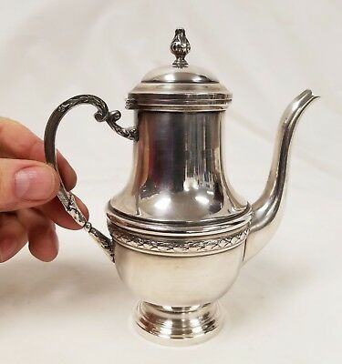 Antique French Hallmarked Silver Plate Miniature Teapot