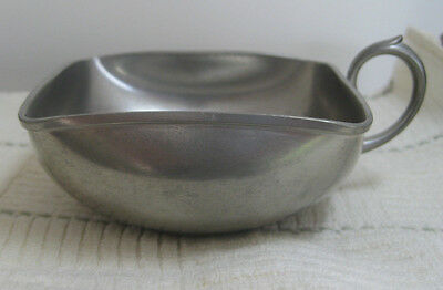 Vintage Royal Holland Pewter Daalderop Candy Dish, 4x4 Square, Marked KMB Tiel
