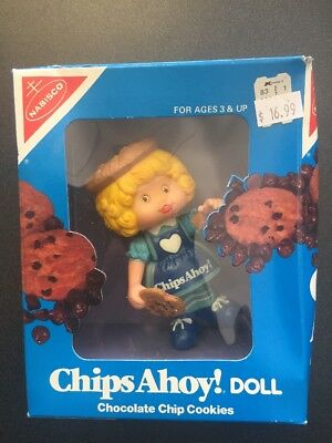 Vintage 1983 Nabisco Chips Ahoy! Doll Chocolate Chip Cookies New In Box!!