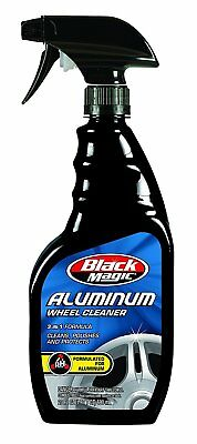 Black Magic 3-IN-1 ALUMINUM WHEEL CLEANER CLEANS • POLISHES • PROTECTS CAR CARE