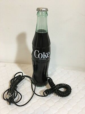 Vintage Coca Cola Coke Bottle Shaped Land Line Telephone Phone Works!
