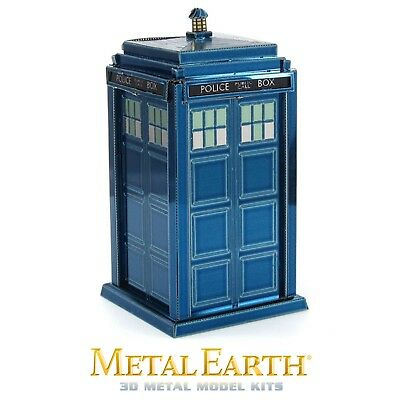 Fascinations Metal Earth Tardis Doctor Who Blue Police Box Dr 3D Model Kit