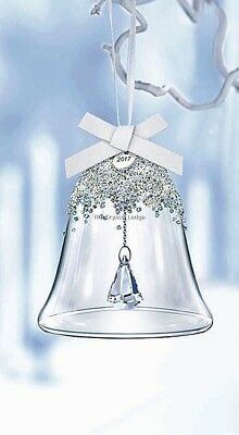 Swarovski 2017 Christmas Bell Ornament Large 5241593 Mint Boxed Retired Rare