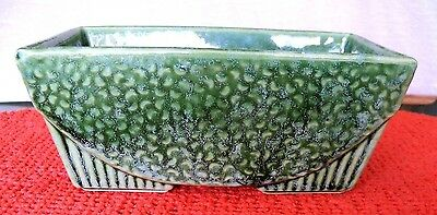 """Vintage Forest Green Footed Planter---Marked """"usa 75"""""""