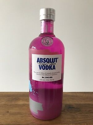 Absolut Vodka Unique # 2 843 406 * Israel Edition 2012 * 750 Ml New & Sealed *