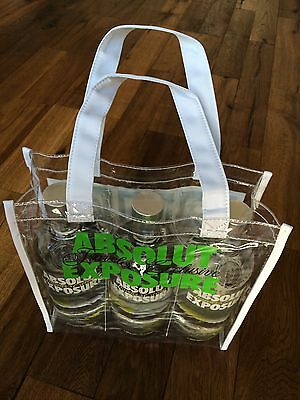 Absolut Vodka Exposure Bag - No Bottles * New Mint * Super Selten & Extreme Rare