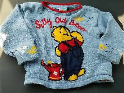 Winnie The Pooh Sweater Vintage Disney Kids Toddler Size 2 Small Silly Old Bear