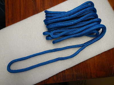 """Double Braided Boat Marine Dock Line Rope 3/8"""" x 20' Blue double braid"""