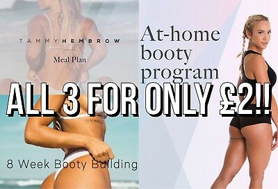 Tammy Hembrow Gym & Home Booty Plan And Meal Plan