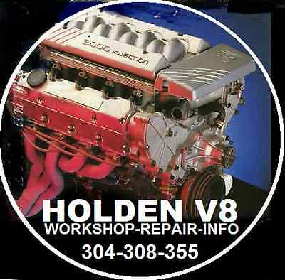 HOLDEN V8 304-308-355-stroker ENGINE WORKSHOP REBUILD INFORMATION  ON CD