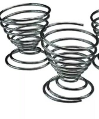 Set  2 Spiral Egg Cup Spring Wire Tray Egg Cup Egg Holder Place Egg Duck Egg