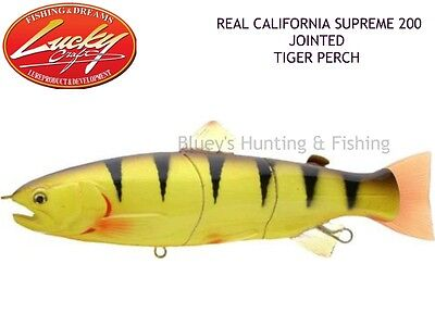 Lucky Craft Real California supreme jointed minnow 200 lure; Tiger Perch