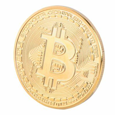5 PCS Gold Plated Bitcoin Coin Collectible Gift Coin Art Collection Physical