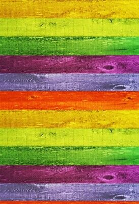 Colorful Stripes Wood Board 2x3ft Photography Backgrounds Photo Backdrops Props