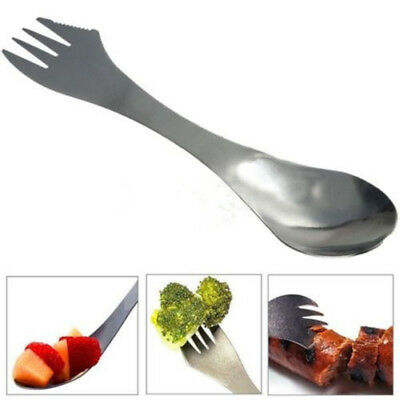 Stainless Steel 3 in 1 Spork Knife Fork Spoon Cutlery Utensil Camping Outdoor