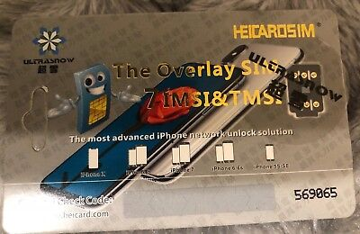 Heicard Unlock Card For iPhone X 8 7 Plus Easy Installing Sim all Carriers NEW