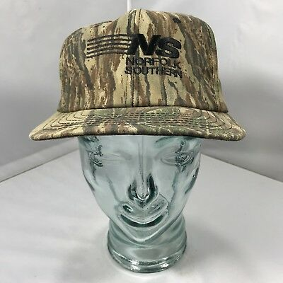 Vintage Norfolk Southern Realtree Camo Snapback Hat Cap 90s MADE IN USA 1e7535393c79