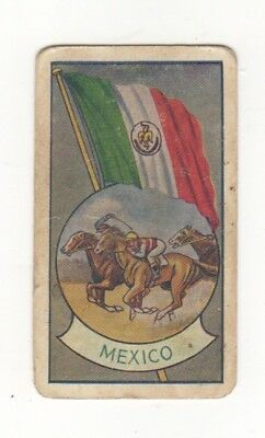 Allen's Confectionery - Sports and Flags of Nations - Mexico Horse Racing