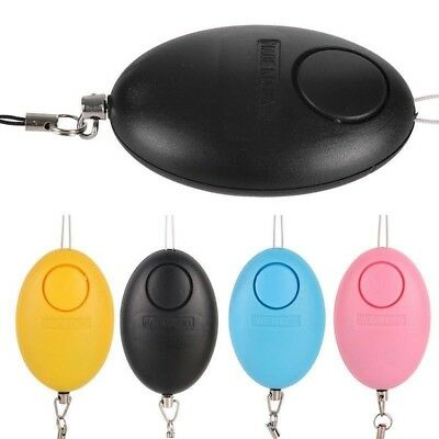 Egg-Shaped Safety Alarm Anti-Attack Rape Security Self Defense Keychain Good