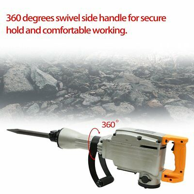 3600W Electric Demolition Jack Hammer Drills Heavy Duty Concrete Breaker 1400RPM