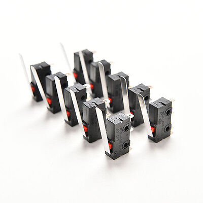 10X Tact Switch KW11-3Z 5A 250V Microswitch 3PIN Buckle HU