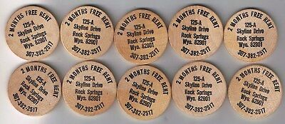 Lot Of 2 Wooden Nickels Westchester Federal Savings Ny Coin Lucky