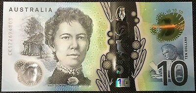 Banknote - 2017 Australian $10 Dollar Polymer Bank Note, UNC