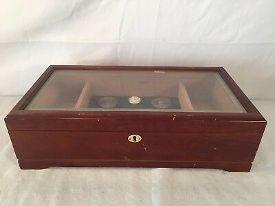 Hillsdale House Large Cedar Wood Cigar Humidor Box With Handles & Humidifier