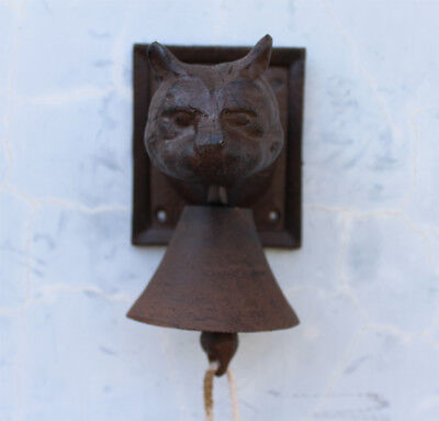 Antiqued Doorbell Cat Dog Cow Horse Head Bell Cast Iron Wall Ornamentation Be