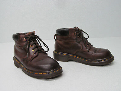 DR. MARTENS THE ORIGINAL MADE IN ENGLAND BROWN LEATHER ANKLE BOOTS Youth Size 2