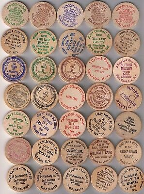 Lot of 52 diff NEW YORK Wooden Nickels