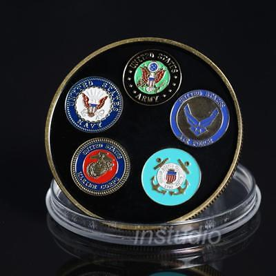 United States Cyber Command All Military Branches Challenge Coin Commemorate