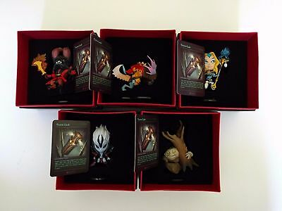 Dota 2 TI4 Demihero Figurine Series all 5 pieces with Trove Card