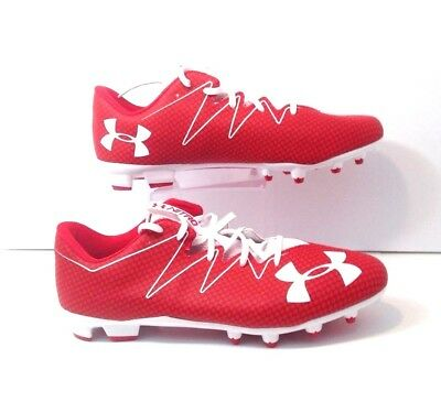 timeless design 06385 db9c2 NEW Under Armour Nitro Low MC Football Cleats Mens Size 16 1269721-611 Red  White
