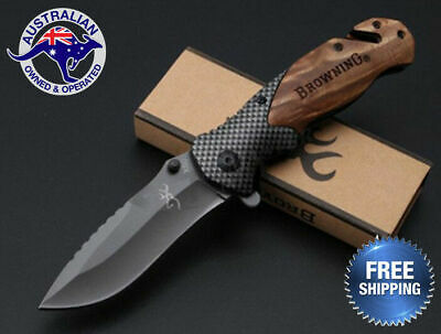 Browning Folding Knife Hunting Camping Survival Fishing Outdoor Pocket Tactical