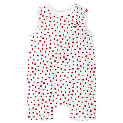 NWT Target Boys Girls Red Stars Embroidered Elephant Summer Romper Size 0