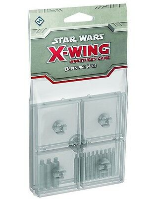 Star Wars X-Wing clear bases and Pegs Expansion Pack Base Upgrade 5 Base FFG