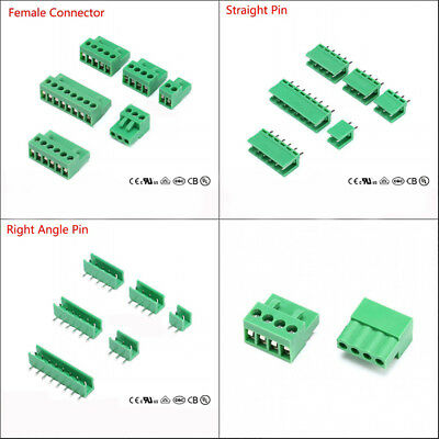 Pitch 3.96mm Female/Straight/Right Angle Pin PCB Terminal Block Screw Connector
