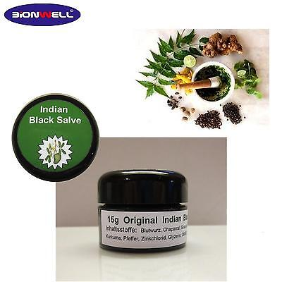 15g Glastiegel. Indian Black. Balm. Salve. Indikator. Diagnose. Reagenzie.