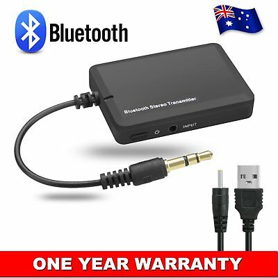 Bluetooth 3.5 A2DP Stereo Audio Adapter Dongle Sender Transmitter For Speaker WM