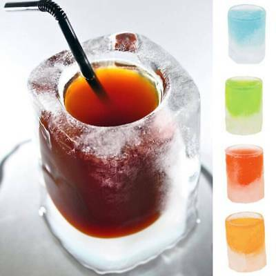 4-Cup Ice Cube Shot Shape Rubber Shooters Glass Freeze Ice Mold Maker Tray Party
