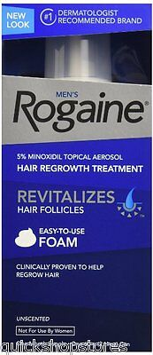 Men's Rogaine for Men Hair Treatment, 5% Minoxidil Topical Aerosol, 2.11Oz