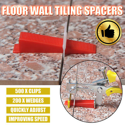 701 Tile Tiling Leveling System 500 Clips + 200 Wedges + 1x Plier Floor Spacer