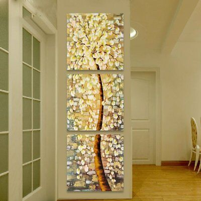 Modern Art Oil Canvas Print Painting Wall Picture Life Tree Home Decor Unframed
