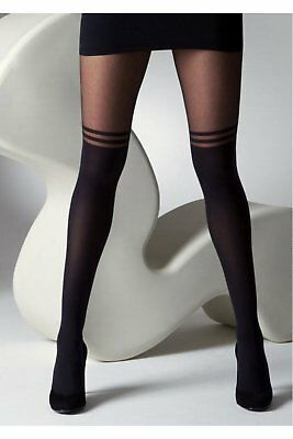 Gipsy Overknee 2 Stripe Mock Hold Up Tights